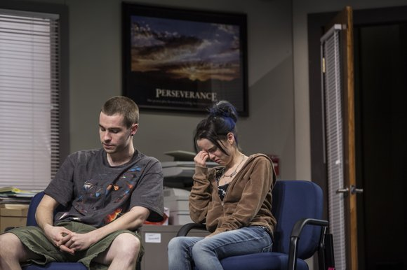 Goodman Theatre's current production through February 23 of Rebecca Gilman's LUNA GALE begins with the frustrated whimpering of a young ...