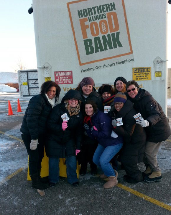 Staff from Presence Saint Joseph Medical Center recently teamed up with Northern Illinois Food Bank's Mobile Pantry to pass out ...