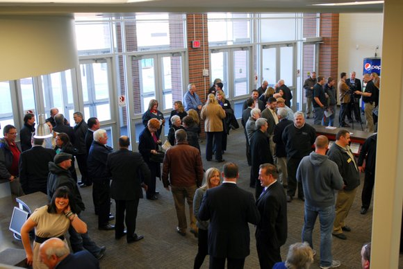 The official opening of the Romeoville Athletic & Events Center in the village's downtown area, now known as Uptown Square, ...