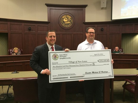 The Village of New Lenox has been awarded more than $200,000 in state grant funding to extend Old Plank Trail ...