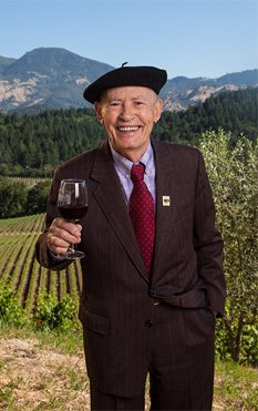 """Rutherford, Napa Valley,CA--At 91 years old, Miljenko """"Mike"""" Grgich is not only the Napa Valley's most senior winemaker, he is ..."""