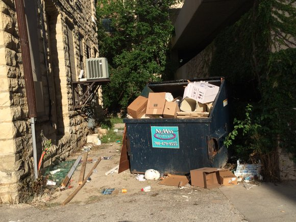 """Complaints that downtown Joliet's becoming a """"giant trash can"""" prompted Joliet City Councilman Jim McFarland to request that efforts to ..."""