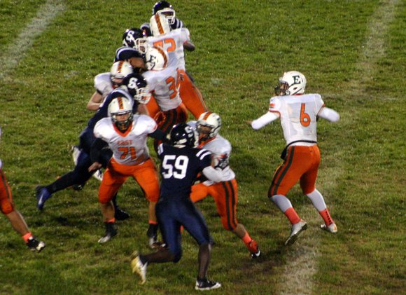 For the first time in six seasons, the Plainfield East football team comes away from a Plainfield South game with ...