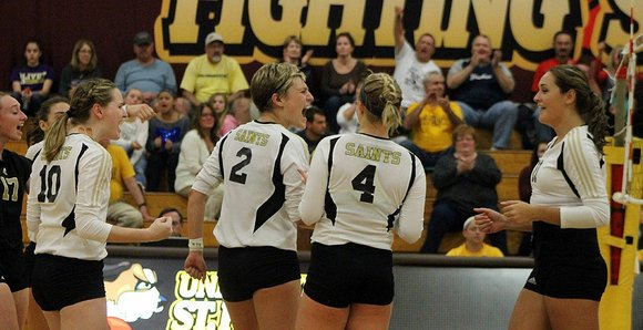 Sparked by junior Shelby Kupferschmid's 16 kills, the University of St. Francis volleyball team remained unbeaten in Chicagoland Collegiate Athletic ...