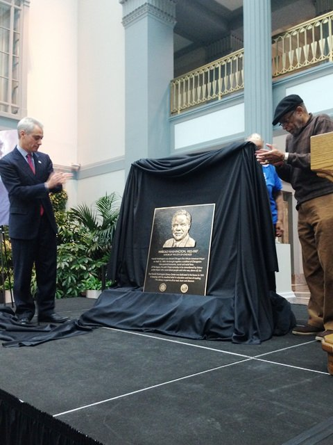 Chicago Mayor Rahm Emanuel, the Harold Washington Legacy Committee, elected officials and dignitaries celebrated the legacy of the first African ...