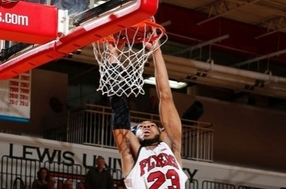 The first half of Saturday's Great Lakes Valley Conference men's basketball match-up between Lewis University and Rockhurst University featured 17 ...