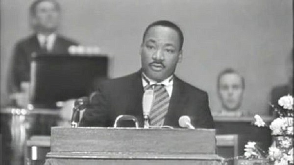 Dr. Martin Luther King, Jr. delivered his Nobel Peace Prize acceptance speech in the auditorium of the University of Oslo (Norway) on 10 December 1964.