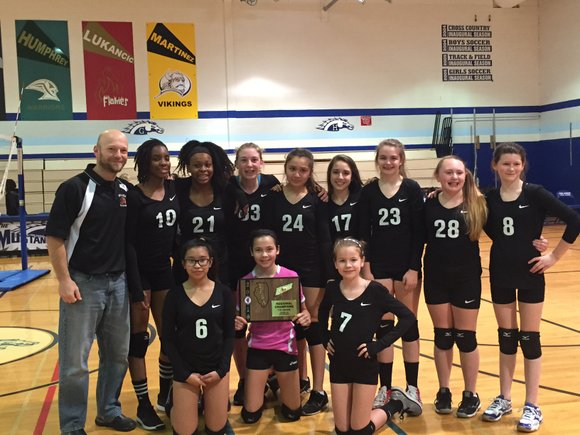 Brooks Middle School is one win away from heading to the IESA 7th grade girls volleyball state quarterfinals following an ...