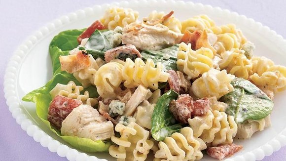 SERVINGS: 12 Ingredients 7 cups uncooked radiatore (nuggets) pasta (about 19 oz) 4 1/2 cups cubed cooked chicken breast (about ...
