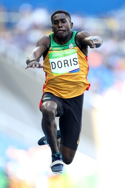 Guyana's Troy Doris finished just two feet short of winning a gold medal in the triple jump at the Olympic ...