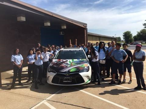 Chicagoland Speedway visited Laraway School District 70C today with a special guest to help kick off the motorsports-themed reading program, ...