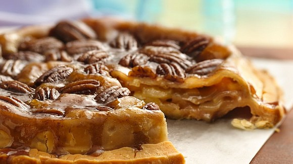 SERVINGS: 8 Ingredients Glaze and Crust ¼ cup packed brown sugar 1 tablespoon butter, melted 1 tablespoon corn syrup ½ ...