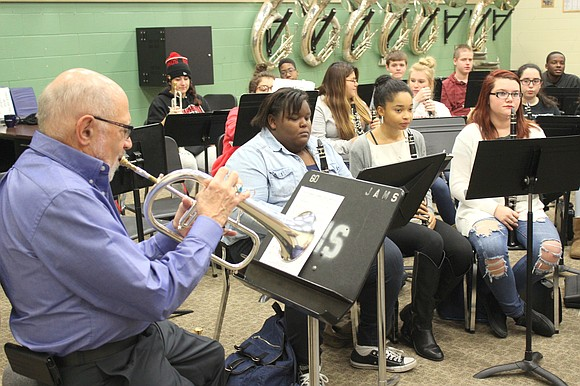 Mike Vax, Director and lead trumpet player of the Stan Kenton Legacy Orchestra and a touring veteran of the Big ...