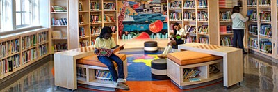 Hampden Elementary/Middle School and George Washington Elementary School are the 12th and 13th schools, respectively, to receive newly-renovated libraries