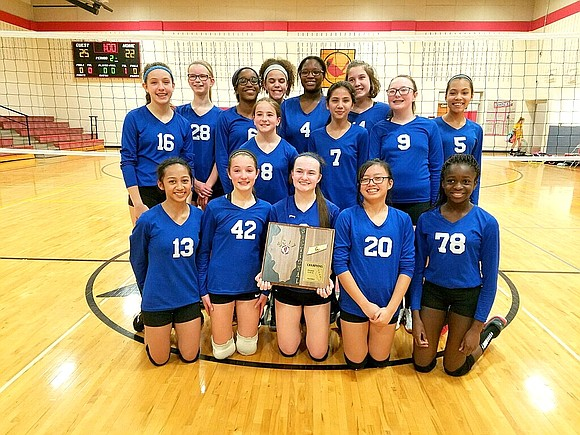 Jane Addams Middle School advanced to the Illinois Elementary School Association's Class 7-4A 7th grade girls volleyball state quarterfinals with ...