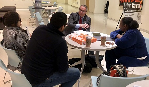 Romeoville - State Rep. John Connor, D-Lockport, hosted a coffee meeting Saturday at the Fountaindale Library to discuss residents' concerns ...