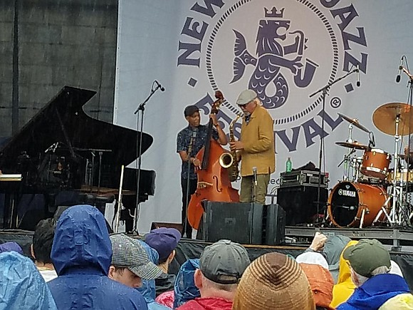 The 2018 Newport Jazz Festival's second day of stormy weather did little to dampen audience enthusiasm or the talents of ...