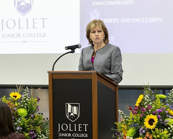 Joliet Junior College President Dr. Judy Mitchell presented her third annual State of the College address on Friday, Sept. 28. ...