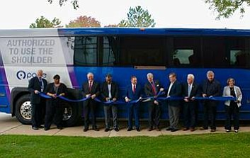 Romeoville - Officials from Pace Bus, Lewis University, Romeoville, and Will County gathered to celebrate the launch of Pace's new ...