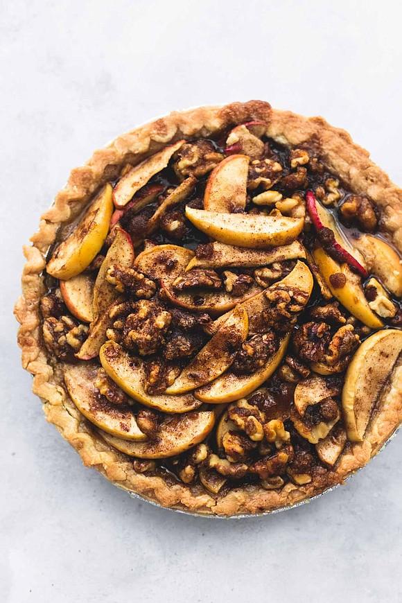 SERVINGS: 8 / TOTAL TIME 40 MIN Ingredients • 1 flaky pie crust • 1 cup walnuts • 4-5 medium ...