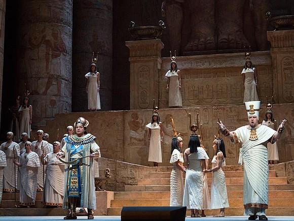 Met Opera's newest box office darling Anna Netrebko is stunning in her Met Opera debut as the long suffering Ethiopian ...