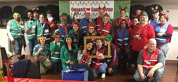 """The Will County Health Department, for the third consecutive year, was the site of """"Operation Santa Drop."""" This effort to ..."""