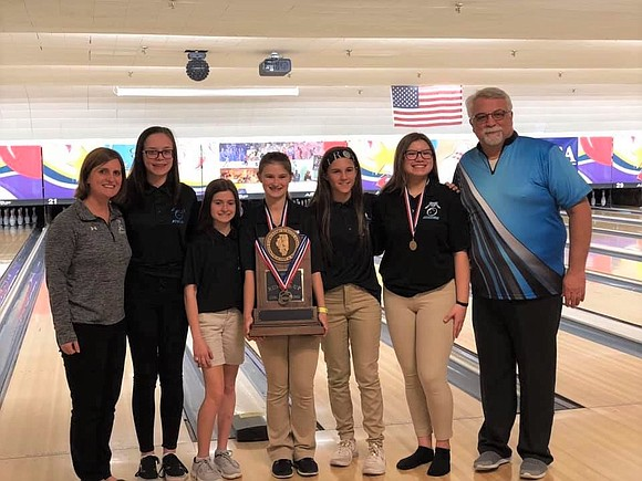 The Troy Middle School Girls Bowling Team placed second at this year's IESA State Bowling Competition, and one of its ...