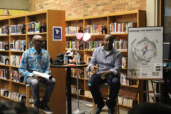 """Joliet West High School hosted local filmmaker Jason Pittman and Pastor Jamar Cook as part of the curriculum module """"Using ..."""