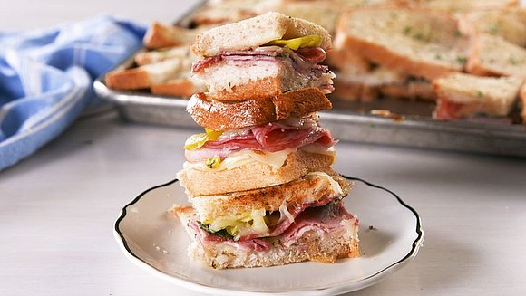 SERVINGS: 14 / TOTAL TIME: 55 MINS INGREDIENTS 4 tbsp. melted butter, divided 2 loaves sliced bread, white or sourdough ...