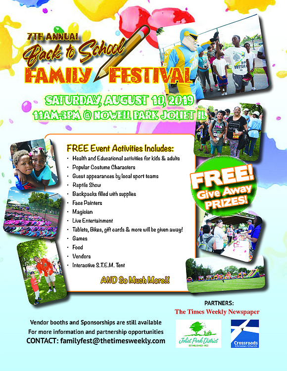 The 7th annual back to school fest will take place on Saturday, August 10th. Gates open at 11am.