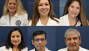 The team of bilingual medical providers at the Will County Community Health Center.  Top (L to R): Dr. Tracy Vera, Marisa Ruiz, APRN, and Dr. Cynthia Vera.  Bottom (L to R): Dr. Veronica Arauz, Dr. Efrain Flores, and Dr. Dan Gutierrez.