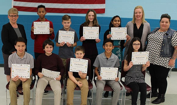 The Shorewood Lions Club recognized its Troy Community School District 30-C December 2019 Students of the Month at the school ...