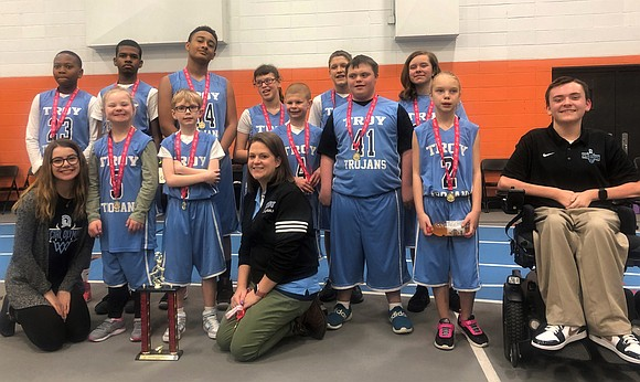 The Troy School District 30-C Special Olympics Basketball Team is headed to state competition after taking first place and the ...