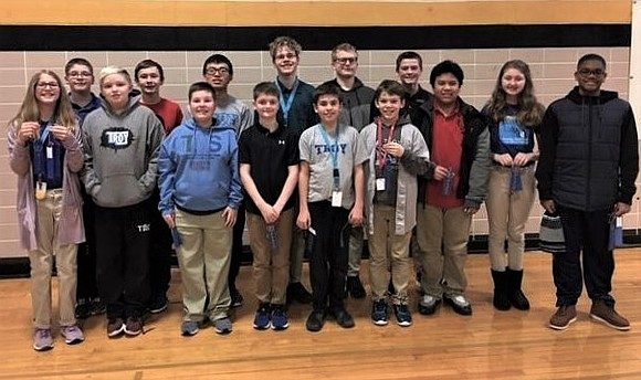 The Troy Trojan Mathletes took 1st place at the recent Mu Alpha Theta Mid-High Math Competition held at Joliet West ...