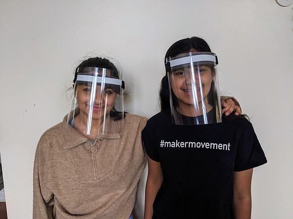 John F. Kennedy Middle School seventh grader Rhea Shah and her sister, Plainfield Ea Roochi Shah, a senior at Plainfield ...