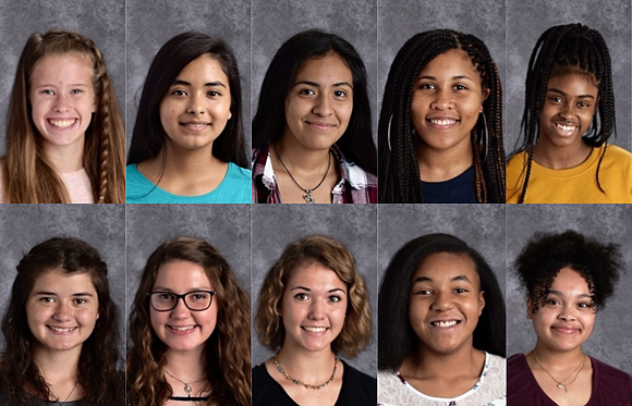 Joliet Central High School Students of the Month for April are Madeline Palmer, Kiwanis Club; Alicia Lopez, Rotary Club; Jazmin ...