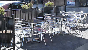 A number of restaurants in Romeoville will open for outdoor dining today. (Note: Tables at restaurants will be six feet apart as required under Phase 3 of the Restore Illinois Plan).