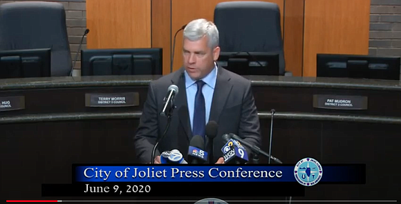 Joliet Mayor Bob O'Dekirk on Tuesday defended his actions following a protest along Jefferson Street on May 31 and said ...
