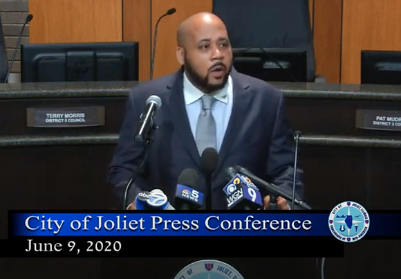 Joliet Mayor Bob O'Dekirk held a press conference at City Hall on June 9 to defend his actions following a ...