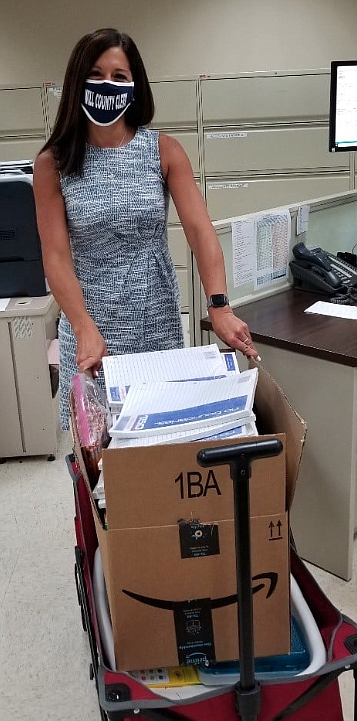 Will County Clerk Lauren Staley Ferry and her staff conducted an office School Supply Drive for Catholic Charities, Diocese of ...