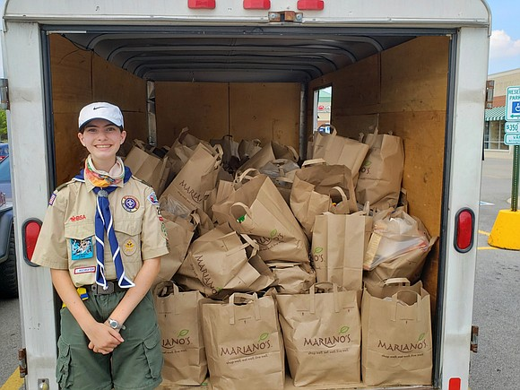 Plainfield South High School freshman Catherine Archer is poised to become the first girl to earn the Eagle Scout rank ...