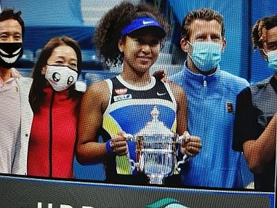 Naomi Osaka won the 2020 US OPEN in a come-from-behind victory over Victoria Azarenko, 1-6, 6-3, 6-3. This is the ...