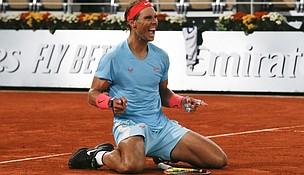 Rafael Nadal reacts to shocking win
