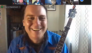 As the COVID pandemic lingers on and more students are forced to continue learning from home, area school districts are finding innovative ways to provide instruction remotely. Thirty-five Dirksen Junior High School band students were treated to a visit on Zoom from Bluegrass Ambassadors program director Ben Wright who plays a banjo professionally. The musician shared with the students how he became a professional banjo player as an adult and started a bluegrass band. He also discussed the business of being a musician and all the places he has traveled through the American Music Abroad program. The Joliet Public Schools District 86 Band Director Laura Armstrong arranged the visit for her students.