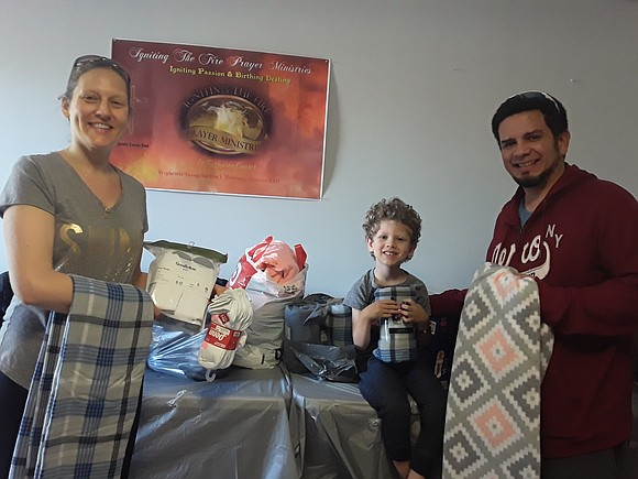 Liana and Xavier Ayala gave a generous donation to Igniting The Fire Prayer Center and Rose of Share-N Outreach Ministry ...