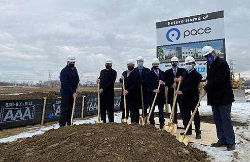 Officials from Pace Bus and the Village of Plainfield on Thursday joined representatives from Northern Builders, Inc. to celebrate the ...