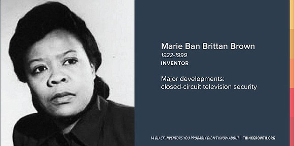 Did you know that the first home security system was invented by a Black nurse? Meet Marie Van Brittan Brown.