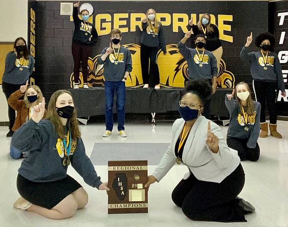 Joliet West Speech Team won the 2021 IHSA Regional Championship for the first time in Joliet West High School history ...