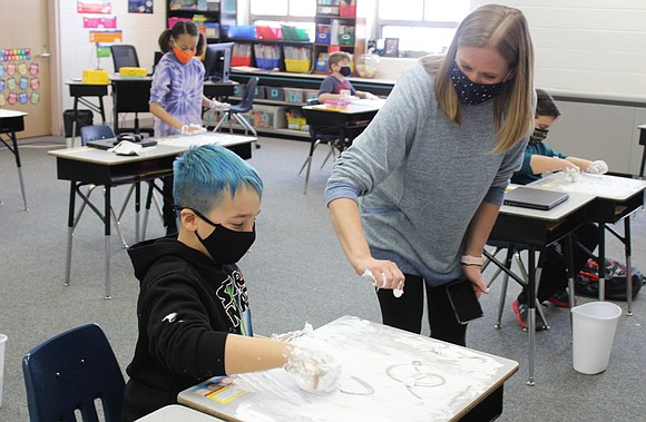 Most students in Plainfield Community Consolidated School District 202 are expected to return to in-person learning for five half-days a ...