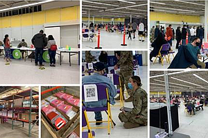 More than 2,000 people received COVID vaccines Saturday at the former Toys R Us store in Joliet that is now a COVID vaccine distribution site.